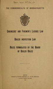 Cover of: Engineers' and firemen's license law | Massachusetts