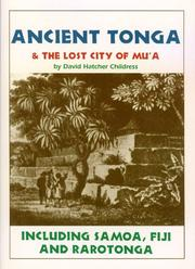 Cover of: Ancient Tonga & the Lost City of Mu'A | David Hatcher Childress