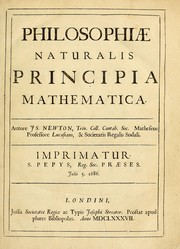 Cover of: Philosophiae naturalis principia mathematica | Sir Isaac Newton