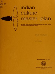 Cover of: Indian culture master plan by Montana. Joint Curriculum Committee.