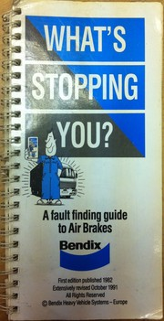 Cover of: What's stopping you | Bendix Limited.