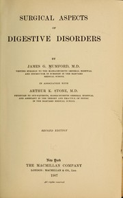 Cover of: Surgical aspects of digestive disorders | Mumford, James Gregory
