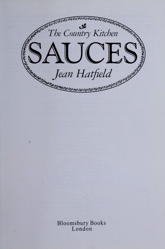 Sauces by Jean Hatfield