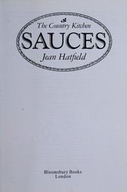 Cover of: Sauces | Jean Hatfield