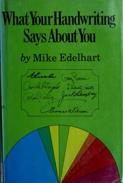 Cover of: What Your Handwriting Says About You | Michael Edelhart