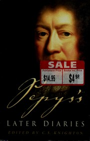 Cover of: Pepys's later diaries | Samuel Pepys