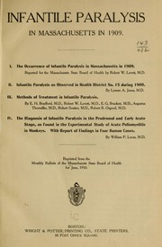 Cover of: Infantile paralysis in Massachusetts in 1909 by Massachusetts. State Board of Health.