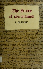 Cover of: The story of surnames by Leslie Gilbert Pine