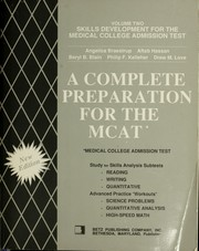 Cover of: A Complete preparation for the MCAT |