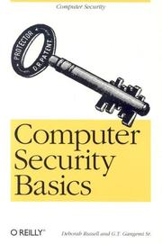 Cover of: Computer security basics by Deborah Russell