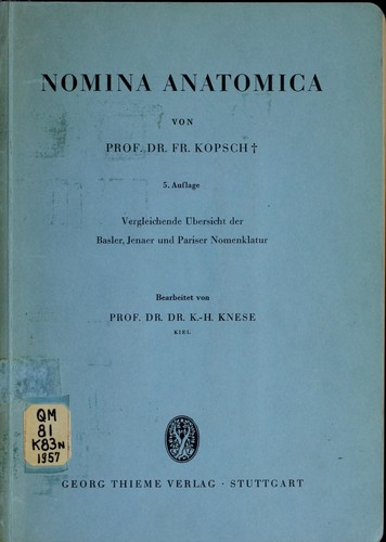 nomina anatomica open library