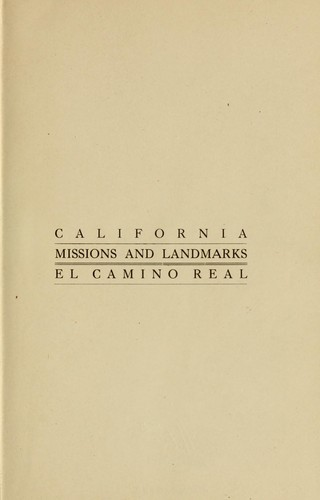 California missions and landmarks by Forbes, A. S. C. Mrs.