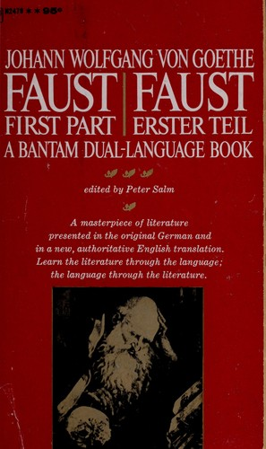 Faust. First part by Johann Wolfgang von Goethe