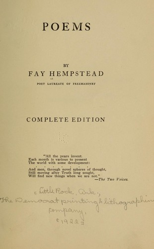Poems by Fay Hempstead