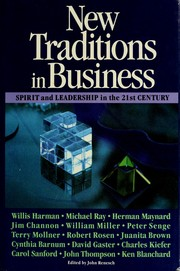 Cover of: New Traditions in Business | Willis W. Harman