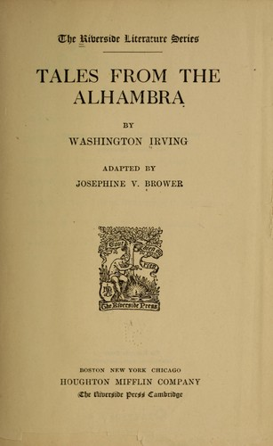 washington irving alhambra Information and photos of the emperor's chambers of the alhambra  to the  north of daraxa's garden, are known as washington irving chambers, because  the.