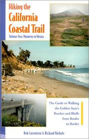 Cover of: Hiking the California Coastal Trail by Bob Lorentzen