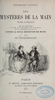 Cover of: Chiromancie nouvelle by Ad Desbarrolles