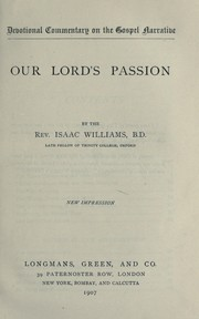 Cover of: Our Lord's passion | Isaac Williams
