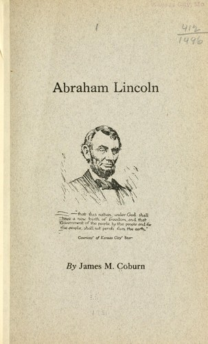 Abraham Lincoln by James M. Coburn