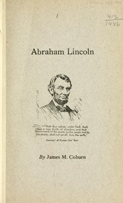 Cover of: Abraham Lincoln | James M. Coburn