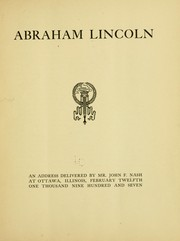 Cover of: Abraham Lincoln by John Fiske Nash
