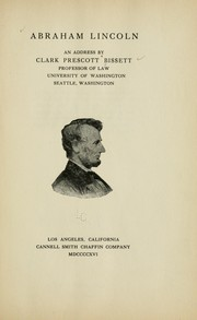 Cover of: Abraham Lincoln | Clark Prescott Bissett