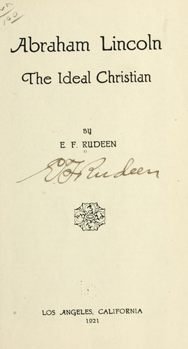 Abraham Lincoln by E. F. Rudeen