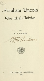 Cover of: Abraham Lincoln | E. F. Rudeen
