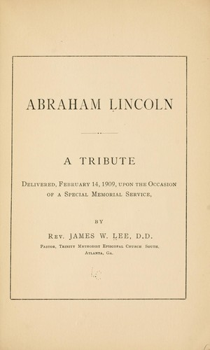 Abraham Lincoln by James Wideman Lee