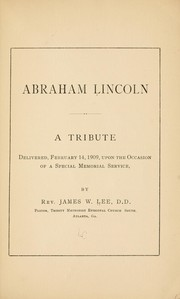 Cover of: Abraham Lincoln | James Wideman Lee