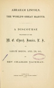 Cover of: Abraham Lincoln | Backman, Charles