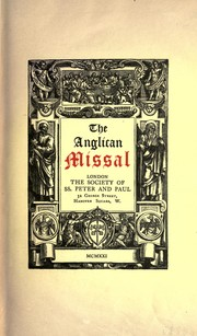 Cover of: The Anglican missal | Church of England