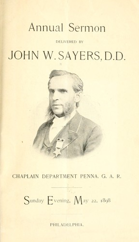 Annual sermon delivered by Sayers, John W.