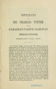 Cover of: Annual statement respecting the Canadian Pacific Railway | Tupper, Charles Sir