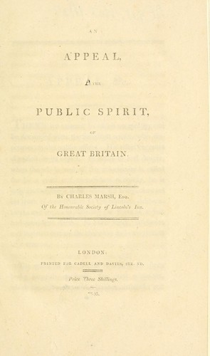 An appeal to the public spirit of Great Britain by Marsh, Charles