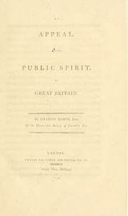 Cover of: An appeal to the public spirit of Great Britain | Marsh, Charles