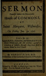 Cover of: A sermon preach'd before the House of Lords | William Wake