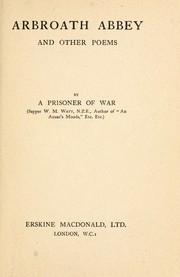 Cover of: Arbroath Abbey, and other poems | Watt, W. M.