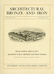 Architectural bronze and iron. --