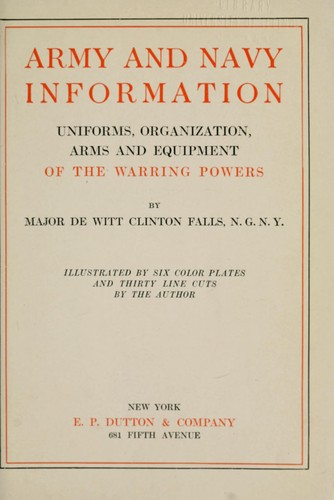 Army and navy information by De Witt Clinton Falls