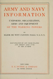 Cover of: Army and navy information | De Witt Clinton Falls