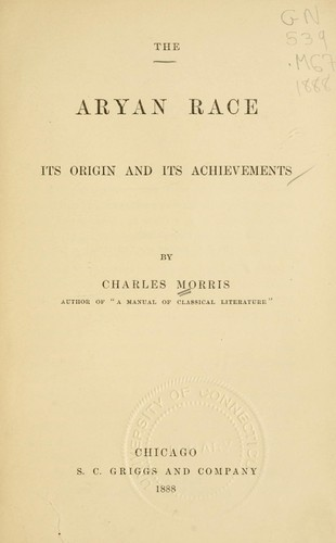 The Aryan race by Morris, Charles