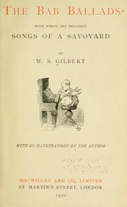 Cover of: The Bab ballads by W. S. Gilbert
