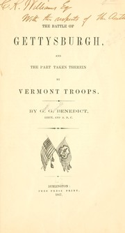 Cover of: The battle of Gettysburgh by George Grenville Benedict