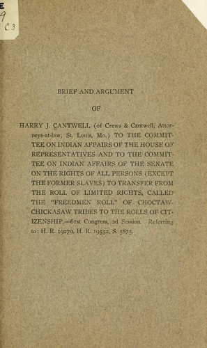 Brief and argument of Harry J. Cantwell (of Crews & Cantwell, attorneys-at-law, St. Louis, Mo.) by Harry James Cantwell