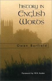 Cover of: History in English words | Owen Barfield