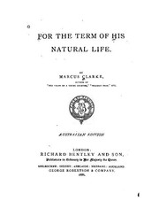 Cover of: For the Term of His Natural Life by Marcus Andrew Hislop Clarke