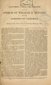 Cover of: California, union and freedom | William Henry Seward