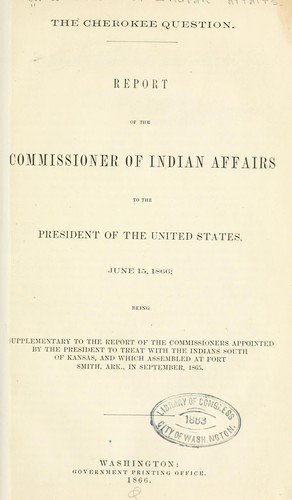 The Cherokee question by United States. Bureau of Indian affairs